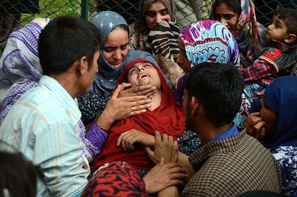 Women at Aijaz Ah Bhat's funeral