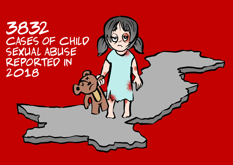 Cartoon By Afraid Canvas: 3,832 Cases Of Child Abuse Were Reported In Pakistan During 2018c