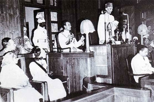 Mr.Jinnah Delivering His Speech On 11th August 1947