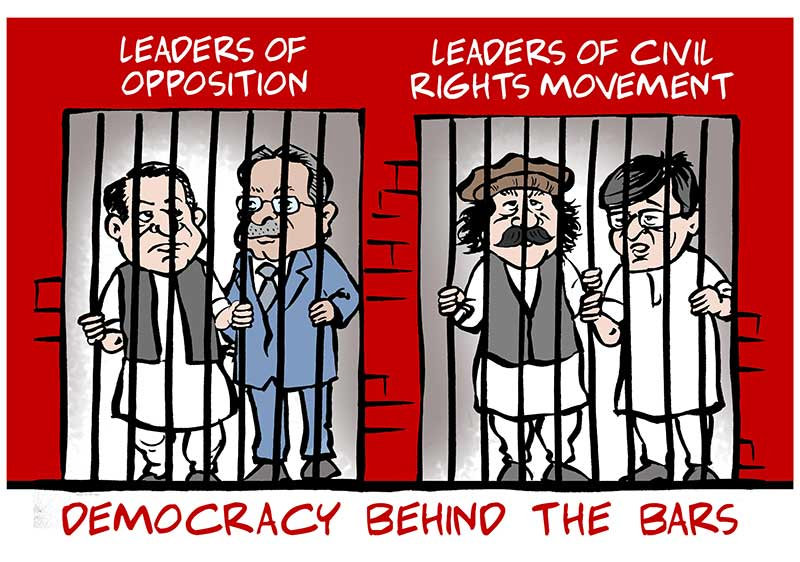 Pakistan opposition - Democracy Behind the Bars
