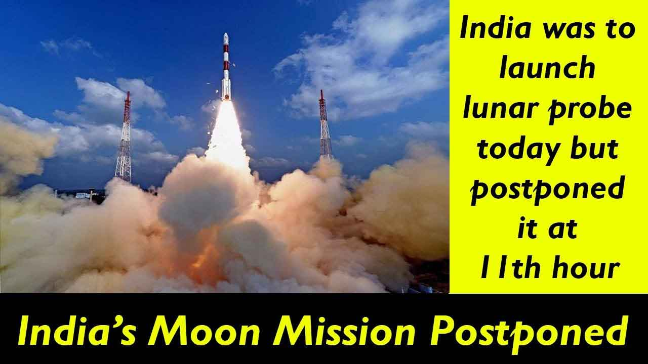 India Had To Postpone Its Moon Mission At 11th Hour. What Could Be The Reason?