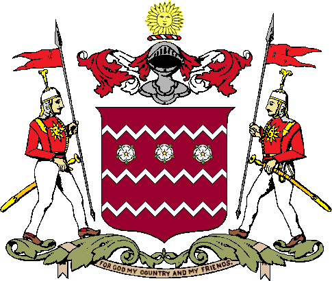 Coat of Arms of the Jammu Kashmir (J&K) princely state. The state was created by the British after it defeated the Sikh 1846.