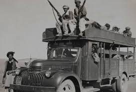 A 'battalion' of armed Pashtun tribesmen that was part of an 'invasion' of Kashmir in September 1947. The tribes had the backing of the Pakistan government.