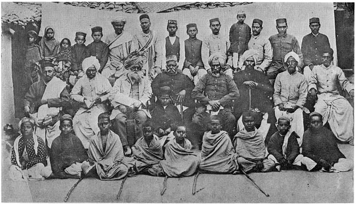 A group of Arya Samaj members in the late 19th century.