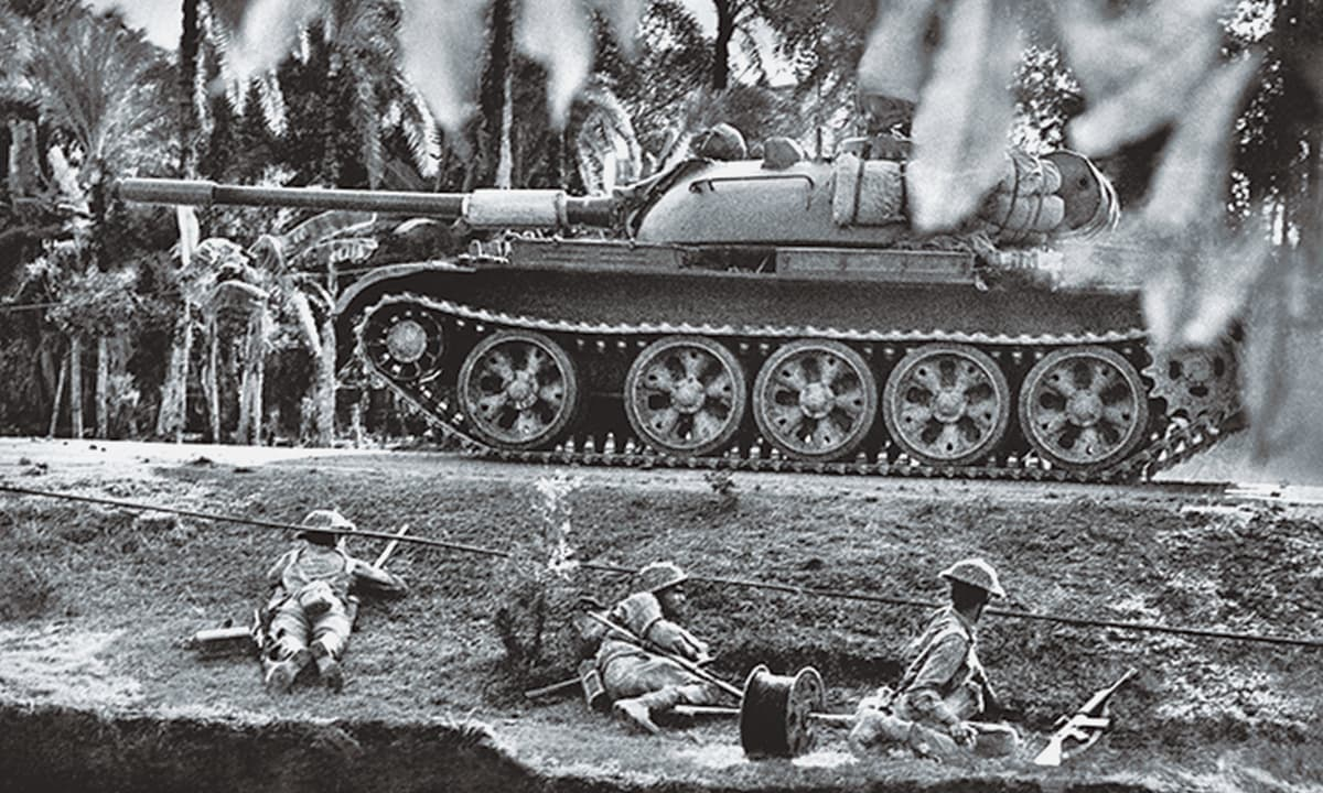 The third Pakistan-India War (1971). Pakistan lost its Eastern Wing which became Bangladesh.