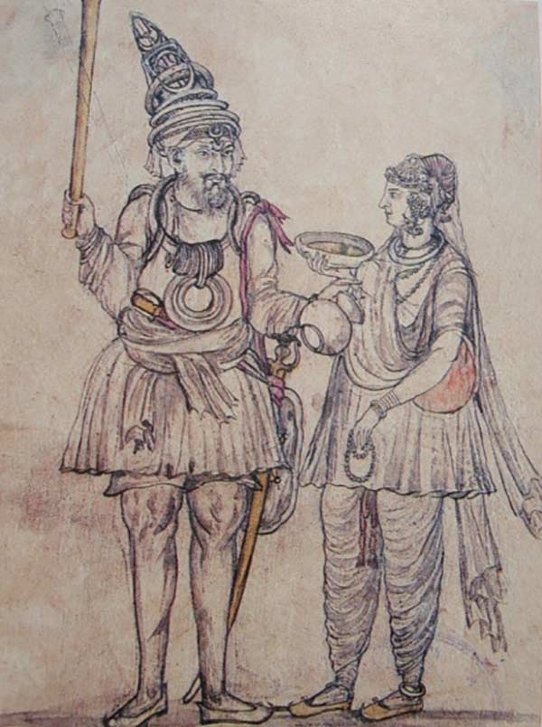 According to famous Pakistani archeologist and historian, late AH Dani, the kameez-shalwar originated during the Kushan dynasty in the 2nd century CE.