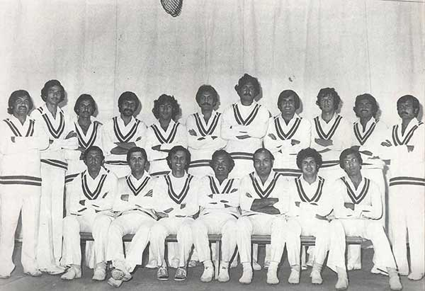 The Pakistan squad that toured Australia and New Zealand in 1976-77. 10 of the 18 players were from Karachi, the rest were from Lahore.
