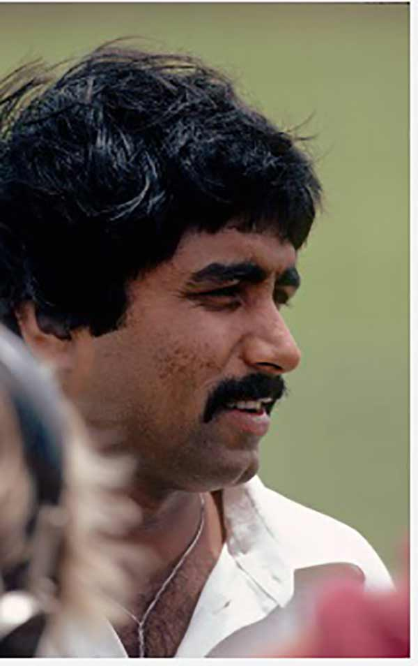 Facing a rebellion: Javed Miandad, 1982.