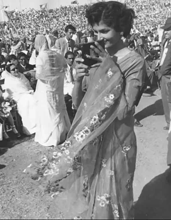 Between 1950s and 1970s, Saris were popular among Pakistani women. In the 1980s they were demonized by the Zia regime as being 'Hindu.'