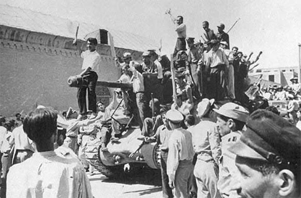 The 1953 US-backed military coup in Iran.