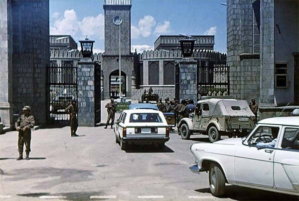 The 1978 Soviet-backed coup in Afghanistan.
