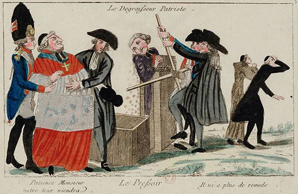 The church taken to the gallows: The French Revolution
