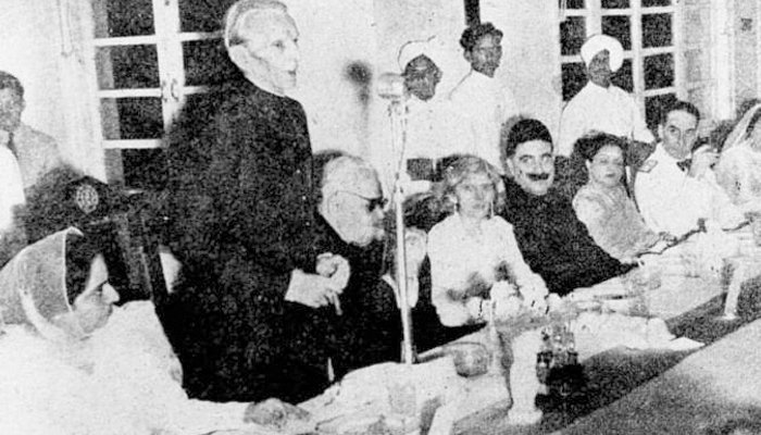 Lahore, 1940: Jinnah iterating his party's desire to create a Muslim-majority country.