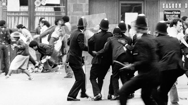 Race riots in Brixton, 1981.
