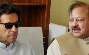 Barrister-Sultan with Imran Khan